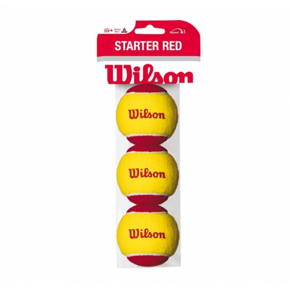 Wilson Starter Easy 3 bolde (rød)-31