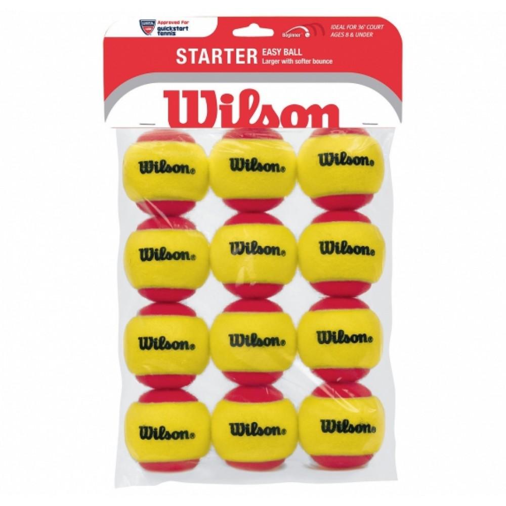 Wilson Starter Easy Ball 12pak (rød)-31