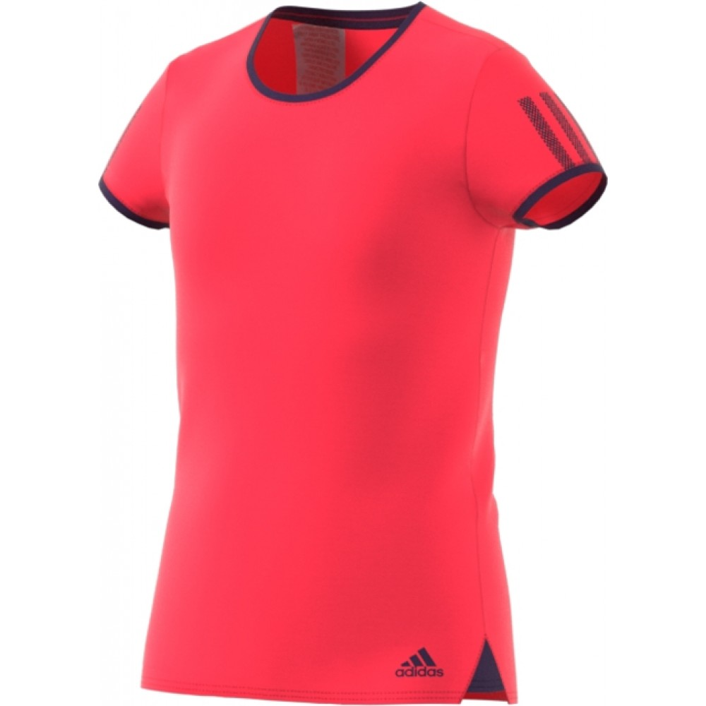 adidas girls Club Tee shock red-35