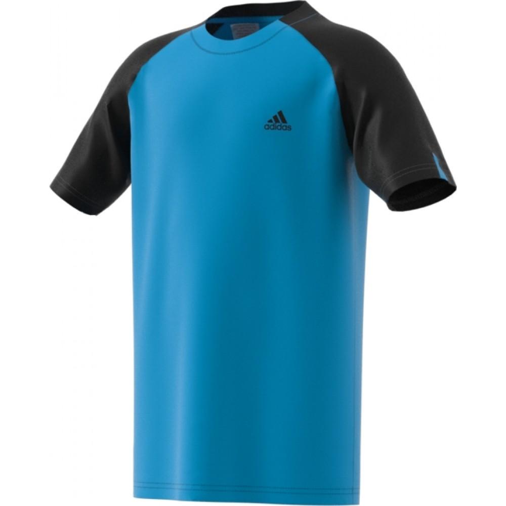 adidas Boys club tee cyan-33