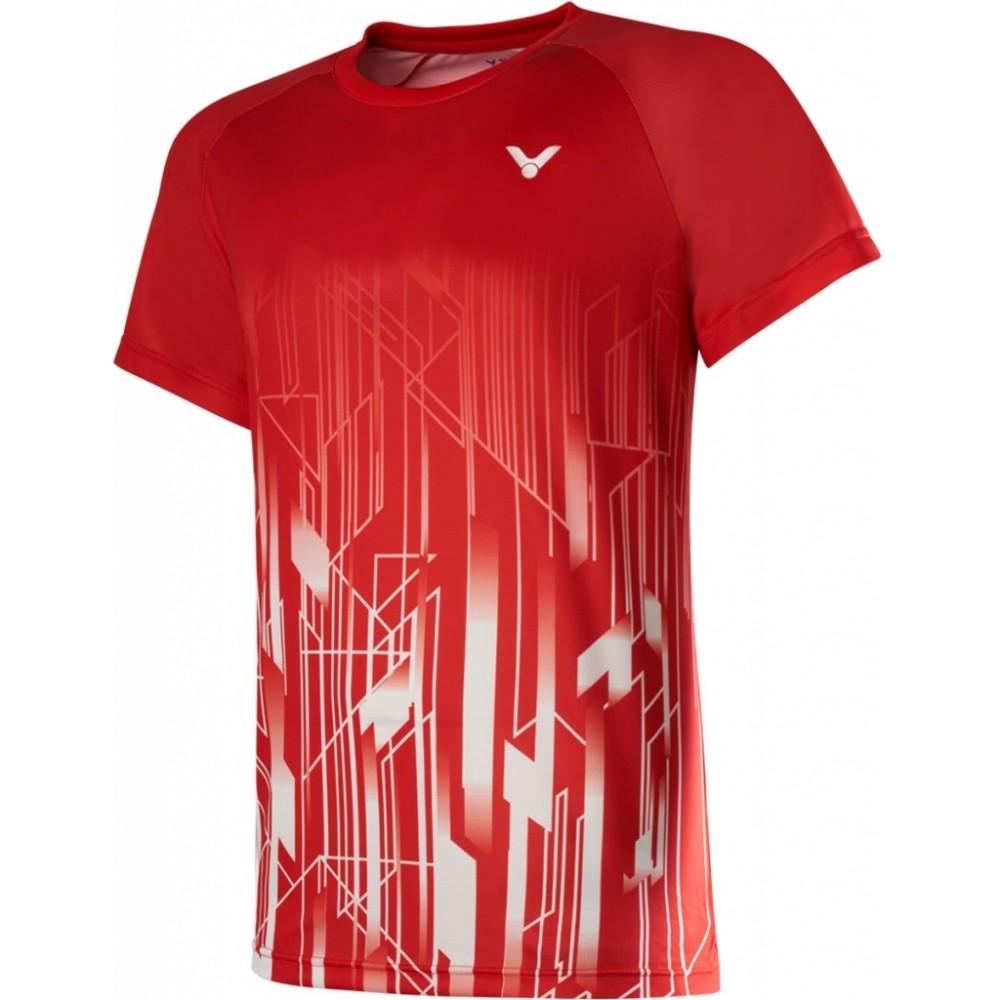Victor Denmark Team Mens Promo T-shirt 2020 red-33