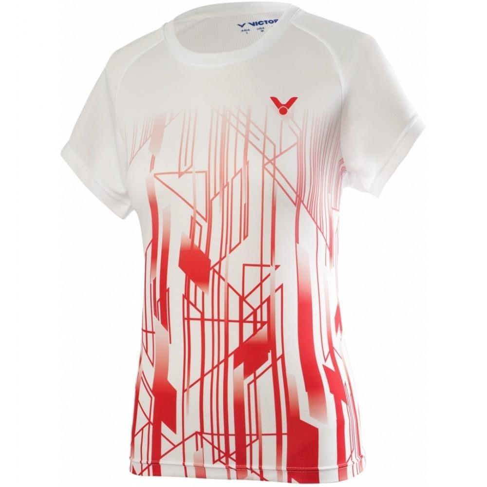 Victor Denmark Team Women Promo T-shirt 2020 white/red-38