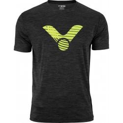 Victor T-Shirt black melange 6529-20