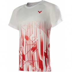 Victor Denmark Team Promo T-shirt 2020 white/red-20