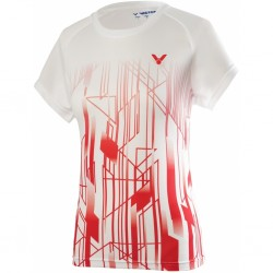 Victor Denmark Team Women Promo T-shirt 2020 white/red-20