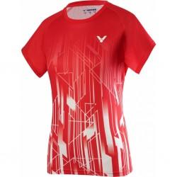 Victor Denmark Team Women Promo T-shirt 2020 red-20