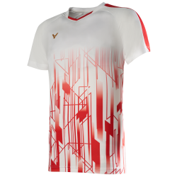 Victor Denmark Team Mens T-shirt 2020 white/red-20