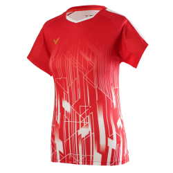Victor Denmark Team Women T-shirt 2020 red-20