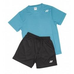 Yonex T-shirt/shorts sæt sort/petrol-20