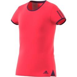adidas girls Club Tee - shock red